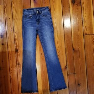 AE outfitters high rise artist flare jeans